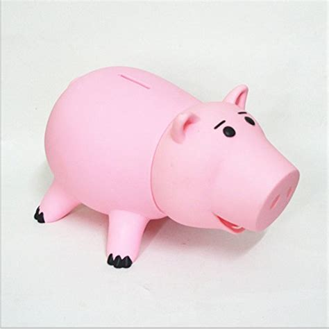 pink piggy bank with money toy story hairphocas cute pink pig money box plastic