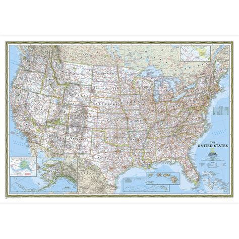 classic maps united states classic wall map national geographic store