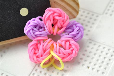 flower of rubber st rubber band flower family crafts