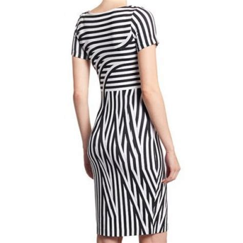 boat neck bodycon dress vintage boat neck short sleeves striped bodycon dress for