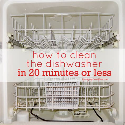 how to clean the dishwasher in 20 minutes or less angela says