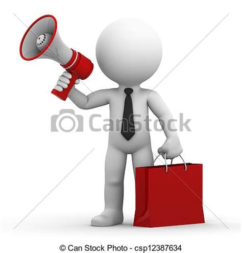 can stock photo clipart drawings of a happy businessman with megaphone and