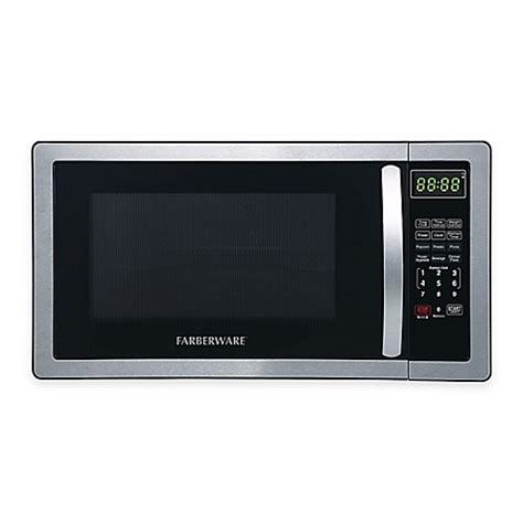 microwave bed bath and beyond farberware 174 classic 1 1 cubic foot microwave oven in