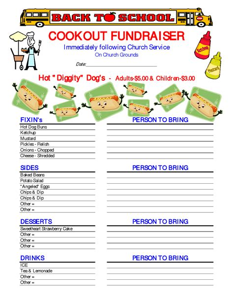 6 best images of free printable fundraiser forms hoagie