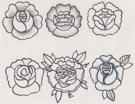 traditional flower tattoo designs sketches by d ragonstone