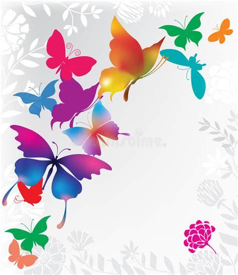 Läuse An Blumen 4425 fondo con las mariposas coloridas ilustraci 243 n vector