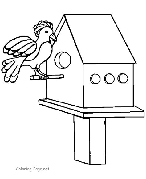 free coloring pages of bird houses coloring pages birdhouse