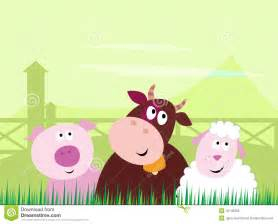 Pet Friendly House Plans Cute Farm Animals Pig Cow And Sheep Royalty Free Stock
