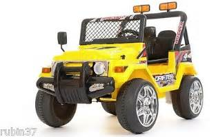 Power Wheels Jeep 4x4 Ride On Car Jeep Wrangler 4x4 12v Battery Remote