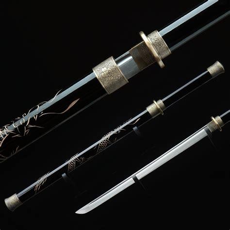 Real Handmade Katana - handmade japanese sword tang carbon steel japanese