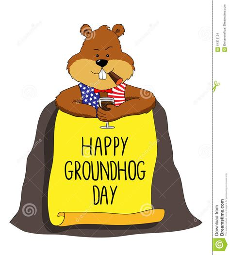 groundhog day graphics groundhog happy groundhog day stock illustration image