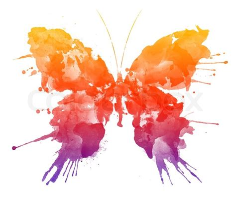 Home Decoration Wallpaper by Watercolor Butterfly Isolated On The White Background