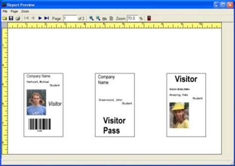 visitor badge template simple visitor management solutions software for windows