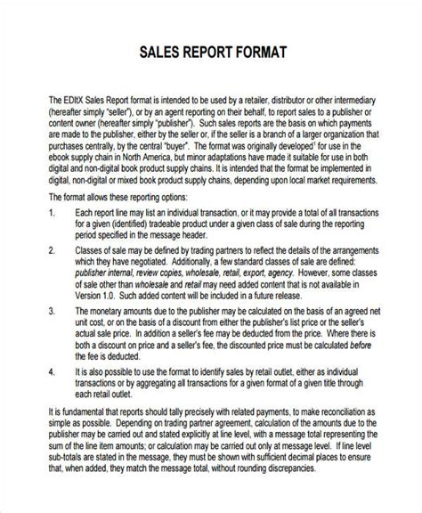 formal reports sles 32 exles of sales reports