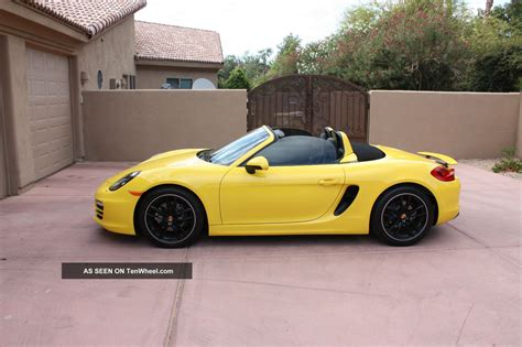 yellow porsche boxster porsche boxster 2014 yellow imgkid com the image