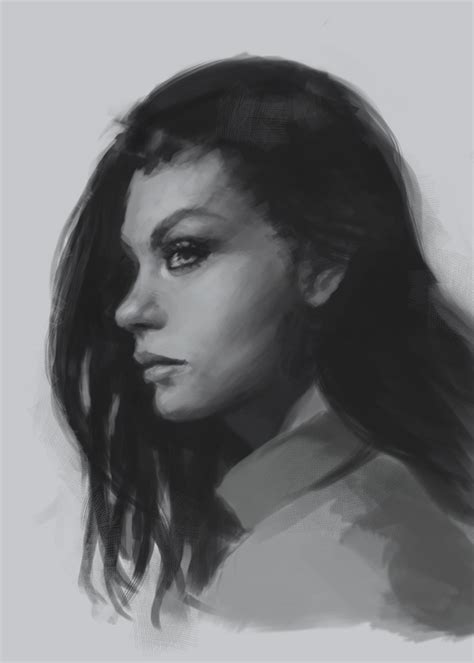 hair i woman s chin sideways how to draw face side view drawing and digital painting