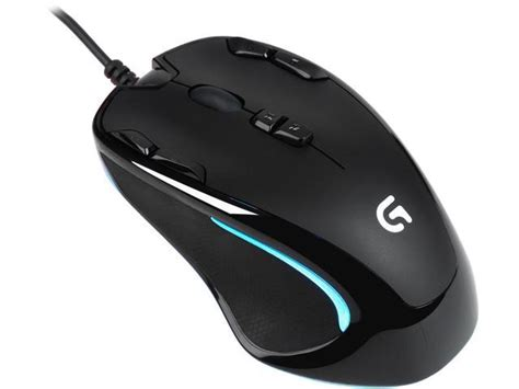 Mouse G300s Logitech G300s 910 004360 Black 9 Buttons 1 X Wheel Usb Wired Optical 2500 Dpi Gaming Mouse