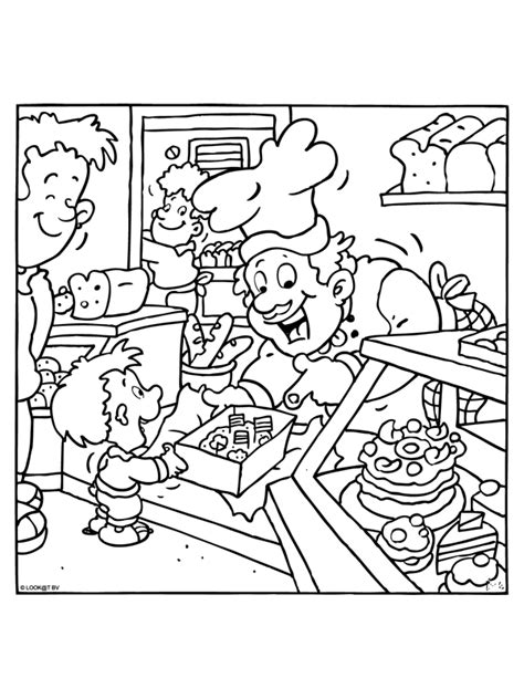 baker coloring pages preschool theme baker coloring pages juf milou
