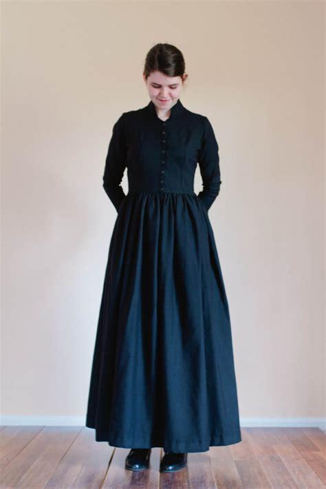 Plain Jumper Dress plain travel dress winter dress linen wool prairie dress