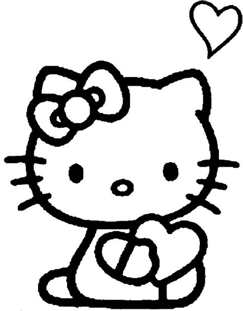 hello kitty heart coloring page free hello kitty cupcake coloring pages