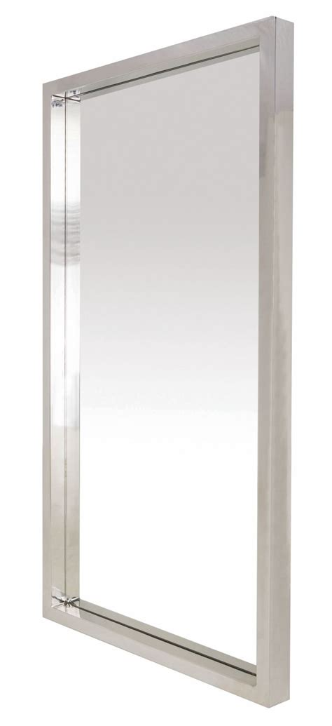 glam 86 quot silver metal floor mirror from nuevo coleman furniture