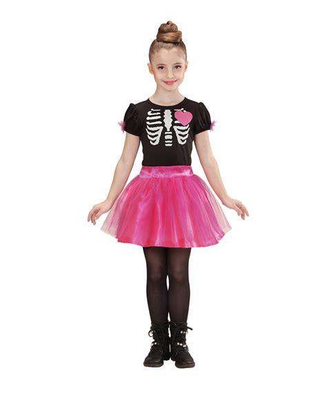 per bambina vestito da scheletro bimba