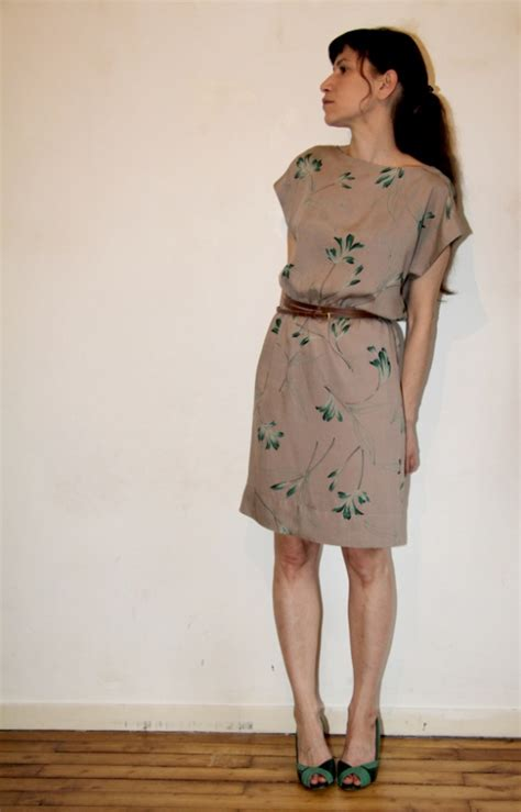 pattern runway dress kimono dress with plants by jolies bobines project