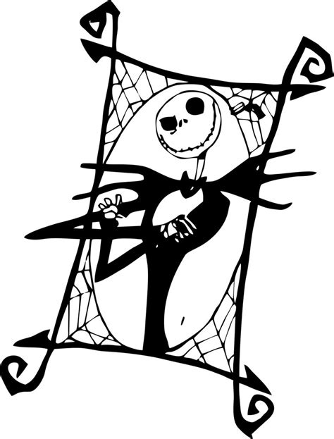 jack skellington coloring pages to print coloring pages