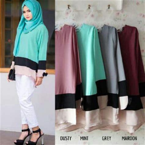 Blouse Muslim Baju Atasan Wanita Zika Blouse busana wanita adia blouse model baju kerja remaja terbaru