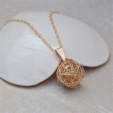 14ct gold filled nest necklace indivijewels