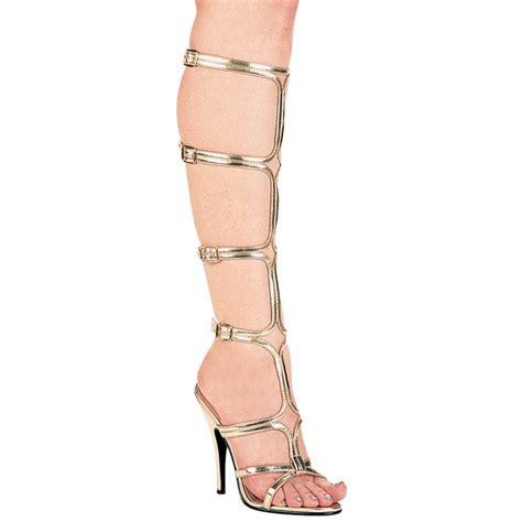 Sandal Heels Garsel E 404 gladiator sandal pumps gold high heels gladiator sandal