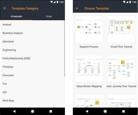 blogger templates for android games new features for lucidchart s android app lucidchart blog