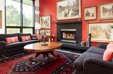 Black And White Ikat Rug Red Black And White Interiors Living Rooms Kitchens