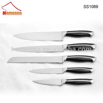 bgt brand 5pcs set stainless steel kitchen knife set with rainbow stainless steel kitchen knife set with acrylic