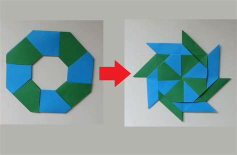 How To Make Transforming Origami - how to make a transforming 8 pointed origami