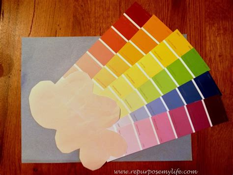 rainbow paint swatch craft the colour is free