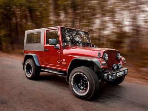 thar jeep modified in kerala mahindra thar disguised as a jeep wrangler drivespark