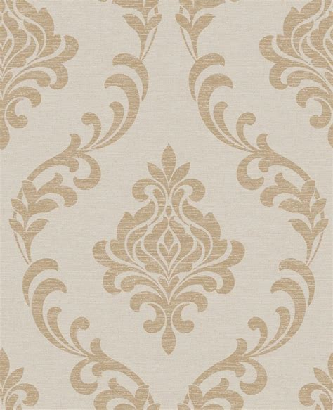 fine decor wallpaper designer wallpaper home flair decor torino gold taupe fleur damask textured wallpaper by