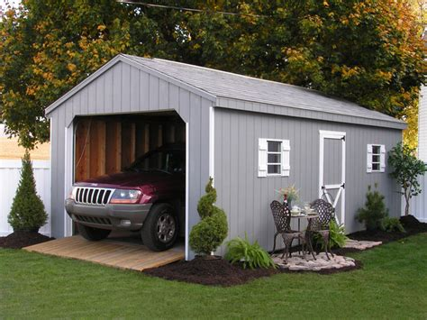 Car Garage Shed by Prefab One Car Garage Sheds Traditional Garage And Shed Philadelphia By Sheds Unlimited Inc