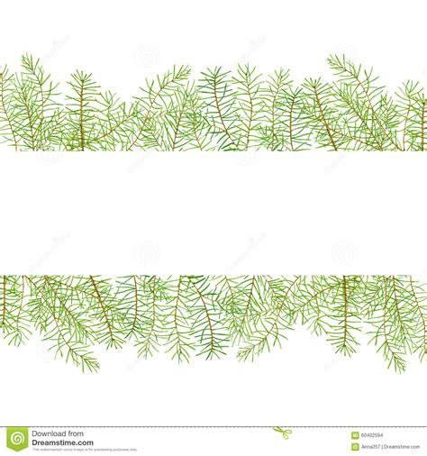 Card Frames Templates Pine Boughs by Watercolor Pattern With Pine Branches Stock Image
