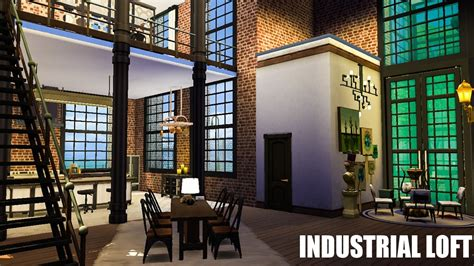 sims  house industrial warehouse loft youtube