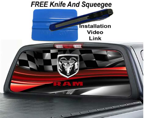 Window Decals Dodge Ram by Ram Rear Window Graphics Collection On Ebay