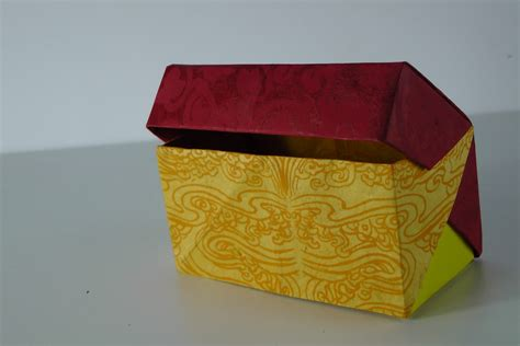 How To Make Paper Boxes With Lids - origami box with lid tavin s origami