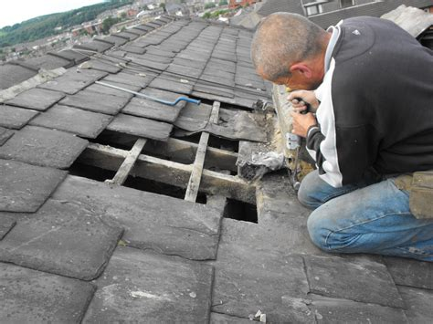 House Roof Repair Repair And Insulation Of Slate Roof Roofing Insulation