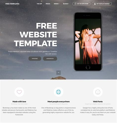 website ideas 2017 66 free responsive html5 css3 website templates 2018