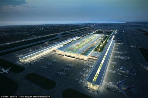 architect and building news report on airport building taiwan taoyuan international airport reveals jungle design