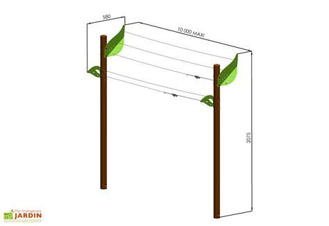 Fabriquer Un Etendoir A Linge Exterieur En Bois by Etendoir 224 Linge Helios Trigano