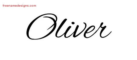 oliver archives free name designs