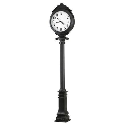 615056 black metal indoor outdoor floor clock howardmiller town square