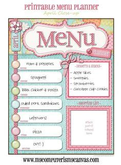 home dinner menu template 1000 images about for the home on family